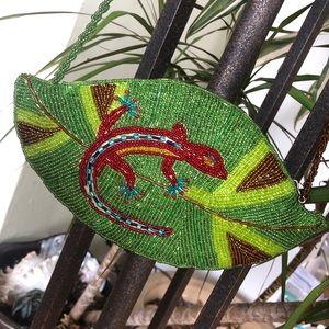 Vintage Maui by Design Salamander Beaded Purse